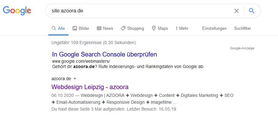 Wie wird meine Homepage bei Google gefunden?